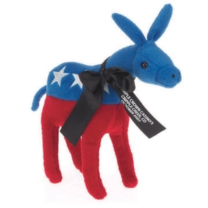 Custom Printed Democratic Donkey Plush Animal