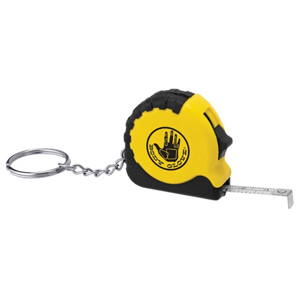 Custom Printed 3 Day Service 3 Foot Mini Tape Measure Key Chains