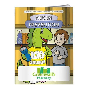 Custom Printed Poison Prevention Themed Coloring Books
