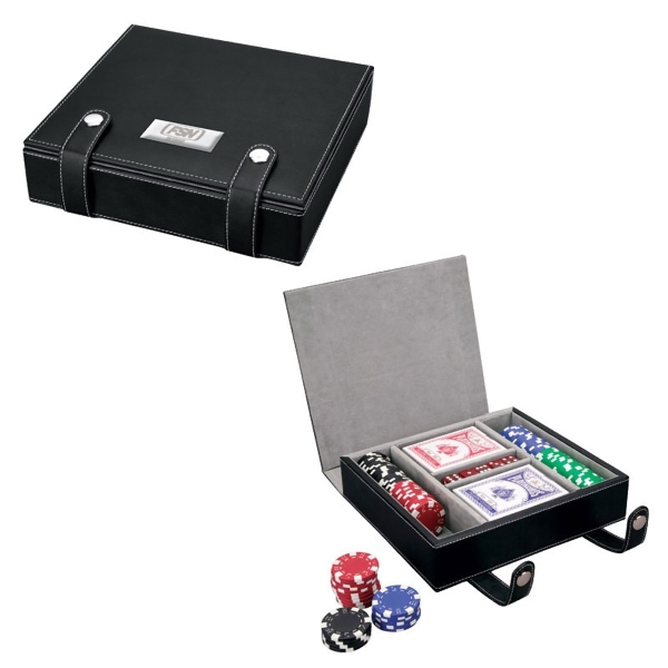 100 Chip Professional Poker Sets, Personalized With Your Logo!