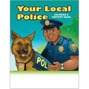Custom Printed Police Station Themed Coloring Books