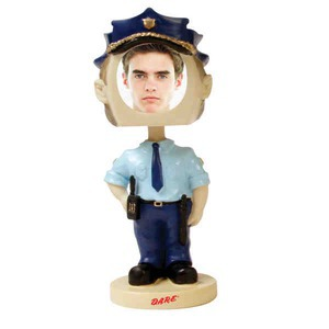 Custom Printed Policeman Bobble Head Picture Frames