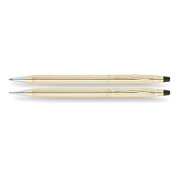 Custom Printed Cross Gold Plated Pen and Pencil Sets