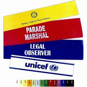 Premium Grade Satin Armbands Custom Imprinted With Your Logo