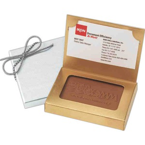 Private Label Business Card Chocolate Boxes, Custom Imprinted With Your Logo!