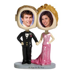 Custom Printed Prom Date Bobble Head Picture Frames