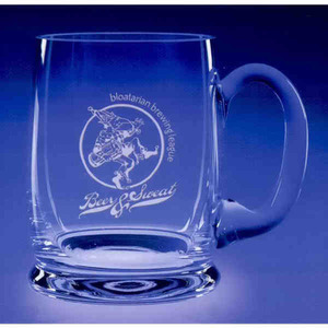 Custom Printed Prosit Hand Blown Mug Crystal Gifts