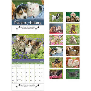 Custom Printed Puppies Appointment Calendars