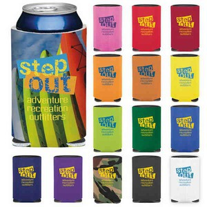 Custom Imprinted Purple Color Can Coolers