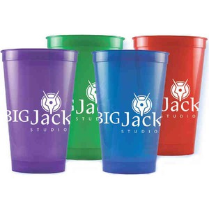 Custom Imprinted Purple Color Stadium Cups