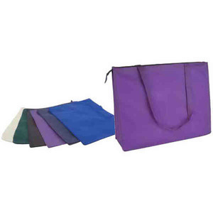 Custom Imprinted Purple Color Tote Bags