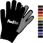 Custom Printed PVC Dot Palm Knit Gloves