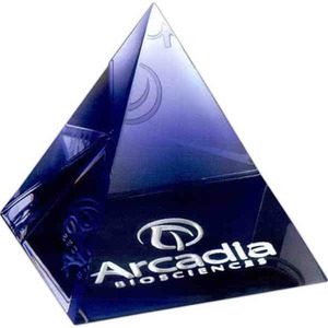 Custom Printed Pyramid Paperweight Crystal Gifts