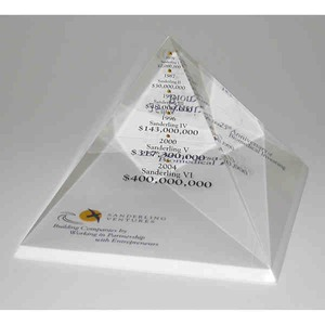 Custom Printed Pyramid Shaped Acrylic Embedments