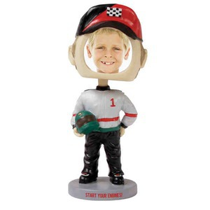 Custom Printed Racer Bobble Head Picture Frames