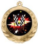 Custom Printed Racing Motion Medals