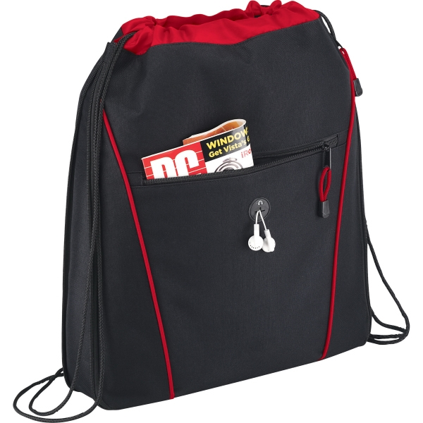 1 Day Service Pull Strap Closure Drawstring Backpacks, Customized With Your Logo!