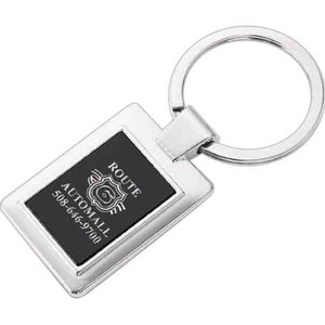 Custom Printed Rectangle Shaped Silver Key Tags