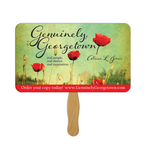 Custom Printed Rectangle Stock Shaped Paper Fans