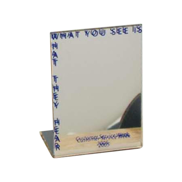 Desktop Easel Mirrors, Custom Imprinted With Your Logo!