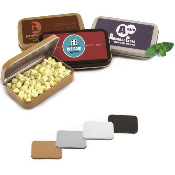 Medium Rectangular Private Label Mint Tins, Custom Imprinted With Your Logo!