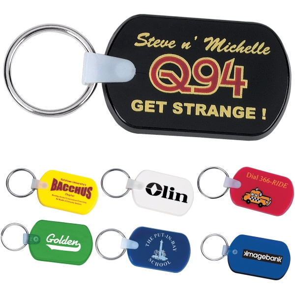 Custom Printed 1 Day Service Metal Rope Key Tags