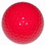 Custom Imprinted Red Colored Golf Balls