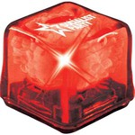 Customized Red Cool Gel Light Up Ice Cubes