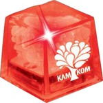 Custom Printed Red Econo Glow Light Up Ice Cubes
