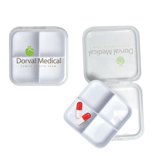Custom Printed 3 Day Service Square Shaped Pill Holders