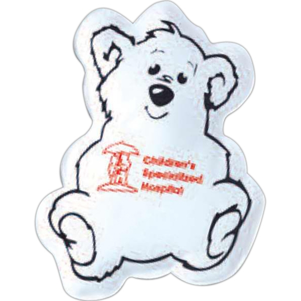 3 Day Service Bear Shaped Cold Packs, Custom Decorated With Your Logo!