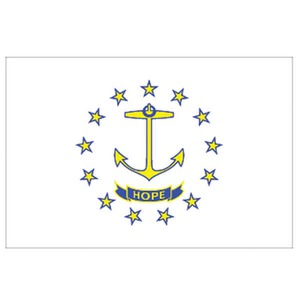 Custom Printed Rhode Island State Flags