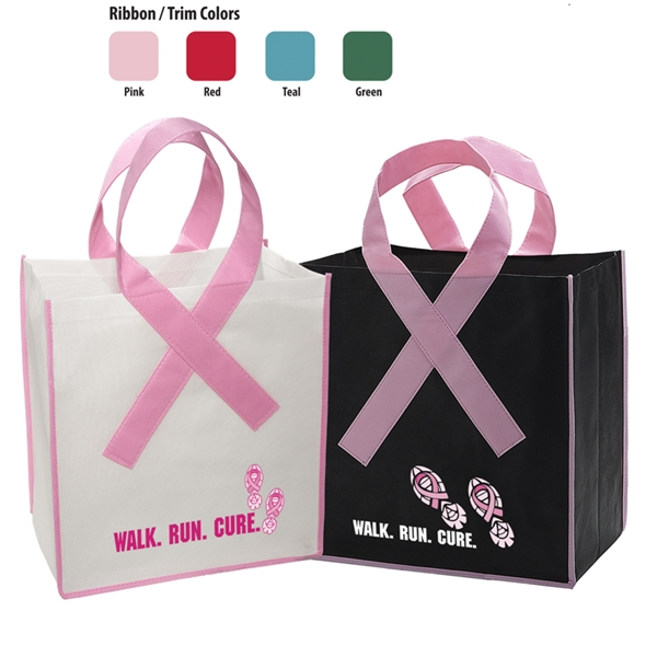 Custom Imprinted Awareness Ribbon Bags