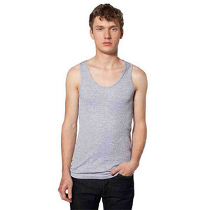 American Apparel Rib Tank Tops For Men, Custom Imprinted With Your Logo!