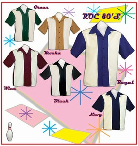 Custom Printed Rockabilly Bowling Shirts