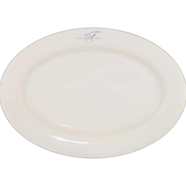 Custom Printed Rolled Edge Rim Dinnerware Oval Platters