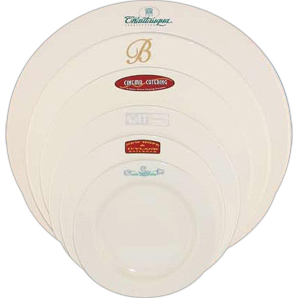Custom Printed Rolled Edge Rim Dinnerware Plates