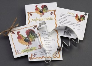 Custom Imprinted Rooster Stock Shaped Cookie Cutters