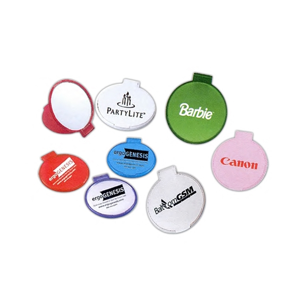 3 Day Service Round Compact Mirrors, Custom Imprinted With Your Logo!