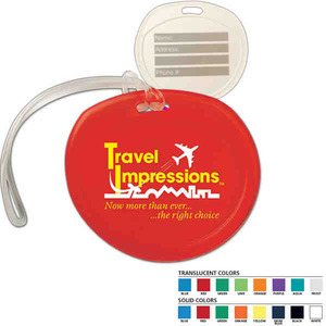 Custom Printed Round Luggage Tags For Under A Dollar