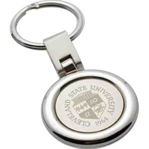 Custom Printed Round Silver Key Tags