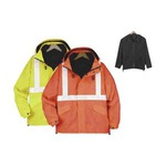 Custom Printed Safety Reflective 3 in 1 All Weather Jackets