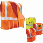 Custom Printed Safety Reflective Basic Vests with a Pocket