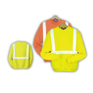 Custom Printed Safety Reflective Crew Neck Sweatshirts