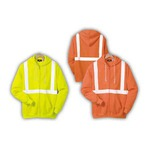 Custom Printed Safety Reflective Hooded Full-zip Sweatshirts