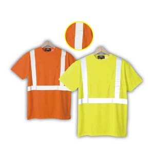 Safety reflective t shirts with a pocket personalized for Safety logo t shirts