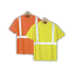 Safety reflective t shirts without a pocket custom for Safety logo t shirts