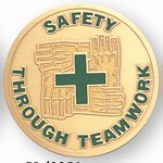Custom Engraved Safety Through Teamwork Emblems and Seals