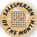 Custom Engraved Sales Person of the Month Emblems and Seals