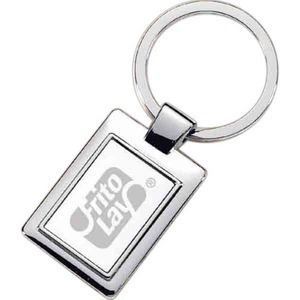 Custom Printed Satin Nickel Rectangle Key Tags